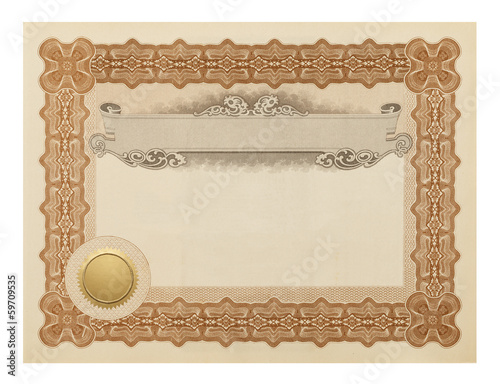Fancy Certificate