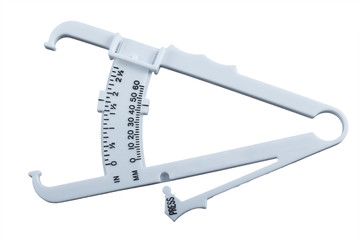 Body fat measuring calipers.