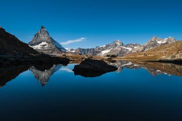 Matterhorn Reflection in Riffelsee Lake, Switzerland