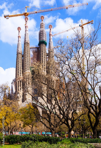 Sagrada Familia by architect Antoni Gaudi. Barcelona