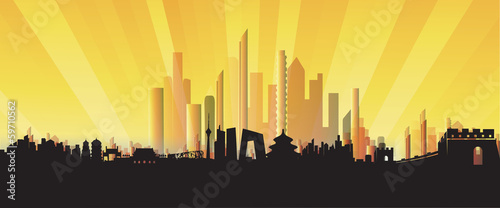 Three-dimensional Beijing Skyline