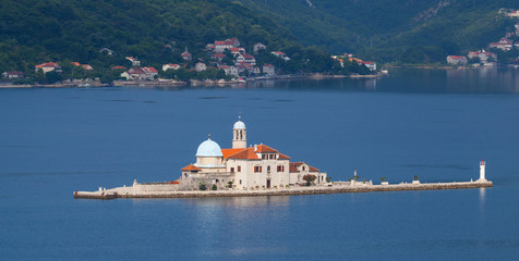 Our Lady of the Rocks - island with church in Bay of Kotor