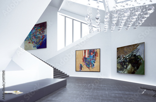 canvas print picture Inside a Art Gallery (focus)