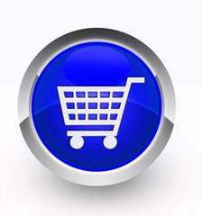 Knopf blau Einkaufskorb
