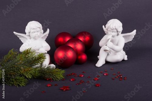 Zwei Engel zur Weihnacht