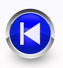 Knopf blau vorhergehend