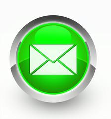 Knopf grün Brief