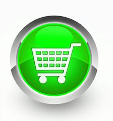 Knopf grün Einkaufskorb
