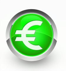 Knopf grün Euro