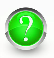 Knopf grün Fragezeichen