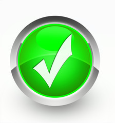 Knopf grün Häkchen
