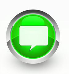 Knopf grün Talk