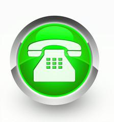 Knopf grün Telefon