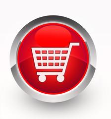 Knopf rot Einkaufskorb