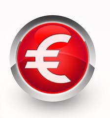 Knopf rot Euro