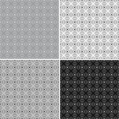 Raster geometric seamless pattern Set