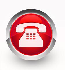 Knopf rot Telefon