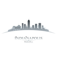 Indianapolis Indiana city skyline silhouette white background