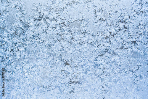Foto op Canvas Poolcirkel Frost pattern