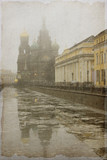 Vintage Photo of St. Petersburg, Russia