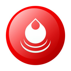 bouton internet drop water red icon