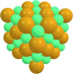 Sodium chloride isolated on white
