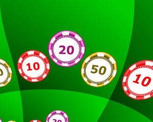 fiches per gioco d'azzardo