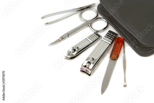 Tools of a manicure set