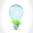 water light bulb and leaves illustration design