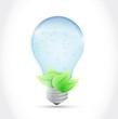 water light bulb and leaves illustration design