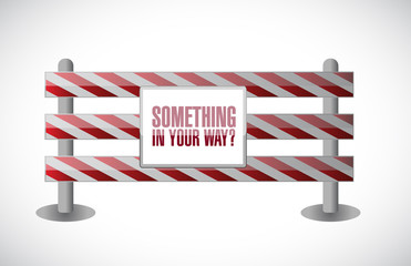 something in your way barrier illustration