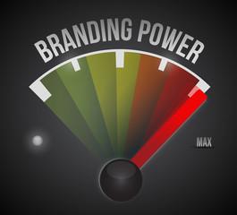 branding power speedometer illustration