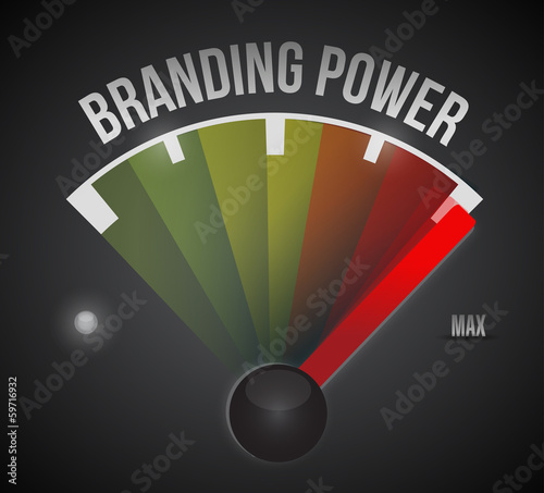 branding power speedometer illustration