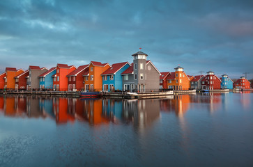 colorful building on water