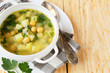pea soup with chickpeas