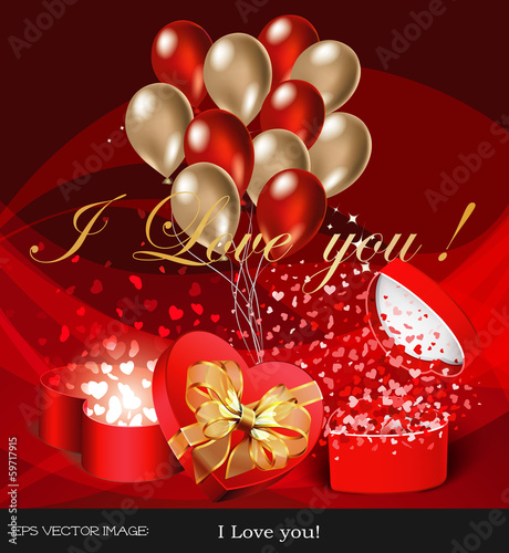 eps Vector image: I Love you!