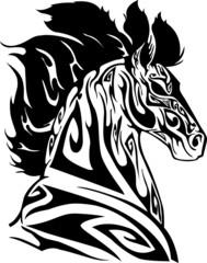 head of horse tribal art