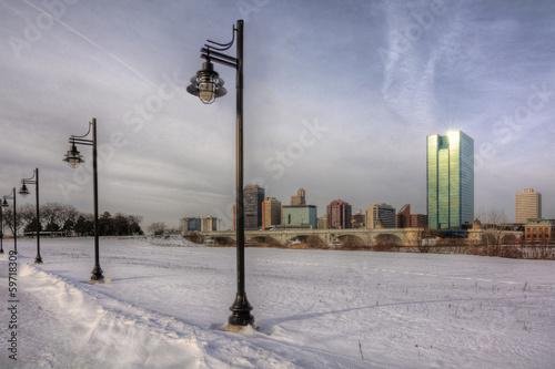 Winter City Skyline