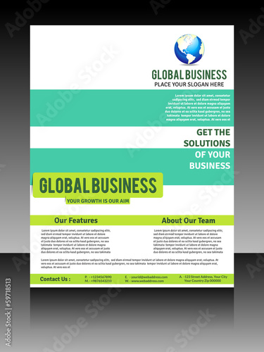 Vector global flyer