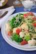 Cauliflower salad with tomatoes and broccoli