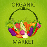 organic market vector illustration .