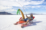 American Fisherman Goes on Cheap Ice Fishing Vacation Holiday