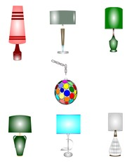 retro household lamps