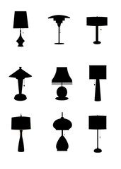 retro household lamps templates