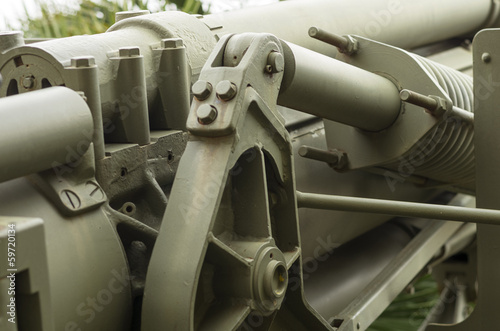 HOWITZER 155/23 OF 1943 - MECHANICAL TOW: RECOIL DAMPER HOOK
