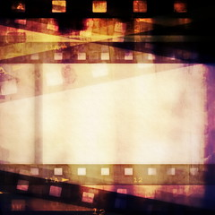 old blank film strip frame background