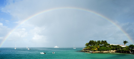 Rainbow Over the Caribbean Sea