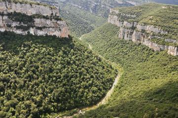 Foz de Arbayun, reserva natural en Navarra (España)