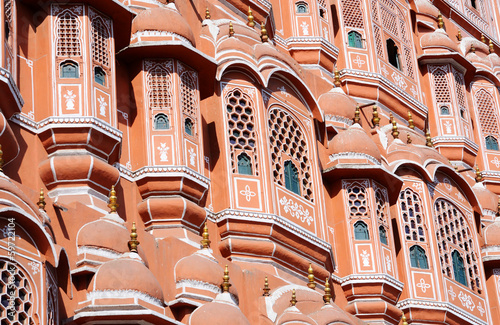 Closeup of Hawa Mahal (Palace of Breeze) in Jaipur,Rajasthan