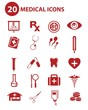 Medical buttons,Red version